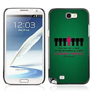 YOYOSHOP [Funny Deep Message ] Samsung Galaxy Note 2 Case