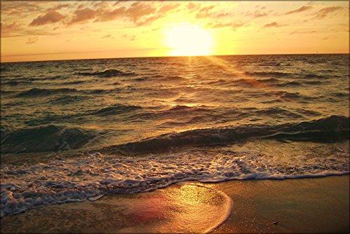 Poster Sun Rising Over The Atlantic Ocean In Hollywood, Florida