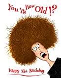 Happy 13th Birthday: You're How Old!? Notebook, Journal, Diary, 105 Lined Pages, Funny Birthday Gifts for 13 Year Old Boys or Girls, Teen, Daughter or ... or Grandson, Book Size 8 1/2' x 11'