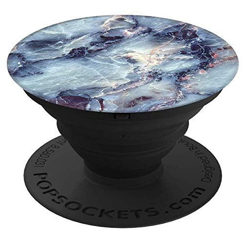 PopSockets: Collapsible Grip and Stand for Phones and Tablets - Blue Marble (Ipod Touch 5 Tie Dye Case)