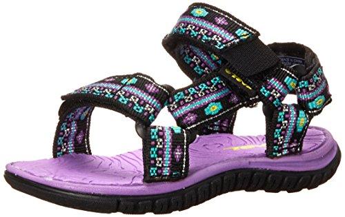 Teva Hurricane 3 Sport Sandal (Toddler), Black/Purple, 4 M US Toddler - Toddler Hurricane Sandal