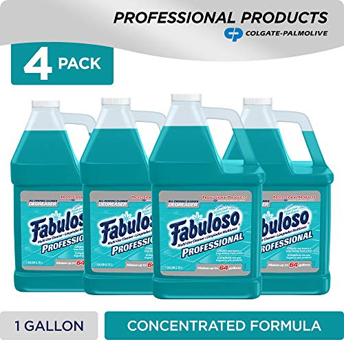FABULOSO Professional All Purpose Cleaner & Degreaser, Ocean Cool, Concentrated Formula, Bathroom Cleaner, Toilet Cleaner, Floor Cleaner, Washing Machine and Dishwasher Surface Cleaner, Mop Cleanser,
