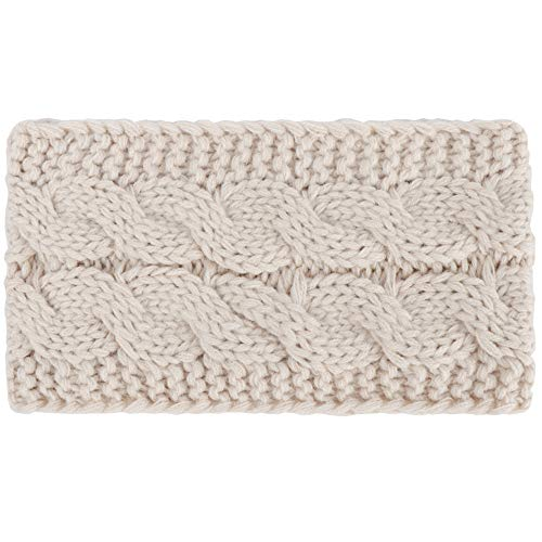 Women Hair Ball Knitting Headband-Vovomay Elastic Handmade Fashion HairBand (Beige) -