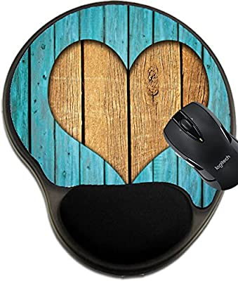 MSD Mousepad wrist protected Mouse Pads/Mat with wrist support Wooden fence with heart Image 12410721 Customized Tablemats Stain Resistance Collector Kit Kitchen Table Top DeskDrink Customized Stain