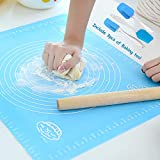 Silicone Baking Mats with Measurements, Non Stick Pastry Mat for Rolling, Joyhill Reusable BPA Free Baking Kits included (Small)