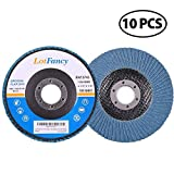 120 Grit Sanding Flap Discs by LotFancy, 4.5 Inch Zirconia Alumina Abrasive Grinding Wheel, Pack of 10