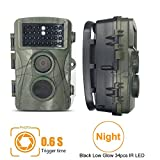 Game Trail Camera, Kuman 12MP 1080P HD Wildlife Hunting Camera with 2.4'' TFT LCD, IP56 Waterproof No Glow Infrared 120°Wide Angle Night Vision Scouting H801