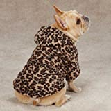 Animal Print Cuddler Dog Sweater Color: Leopard, Size: Small (12″ H x 9.5″ W x 0.25″ D), My Pet Supplies