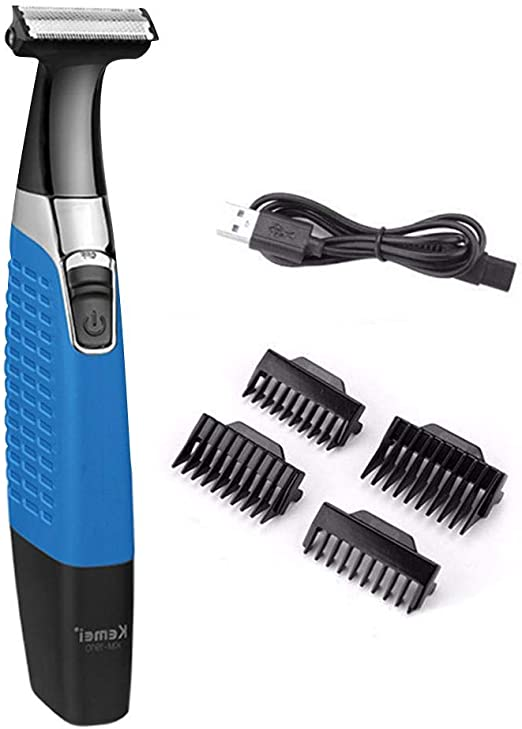 Wood.L Kemei Electric Hair Clipper USB Rechargeable Safety Shaver ...
