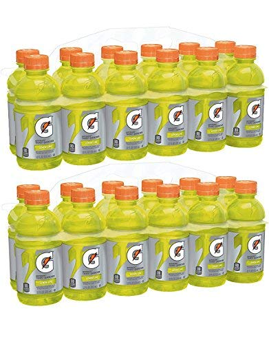 Gatorade Thirst Quencher, Lemon-Lime, 12 Ounce Bottles (Pack of 24)