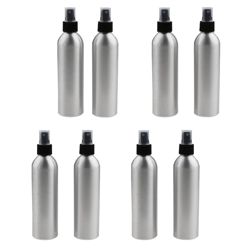 MagiDeal 8x Travel Aluminum Mist Spray Perfumes Bottle Makeup Sprayer Atomizer Essential Oils Aromatherapy Container 250/150/100/50ml