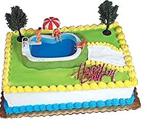 Swimming Pool Cake Ideas ll mommyedzards cake Oasis Supply Swimming Pool Cake Decorating Kit 1 Set