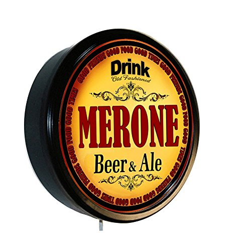 MERONE Beer and Ale Cerveza Lighted Wall Sign from Goldenoldiesclocks