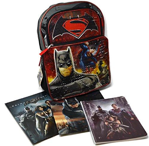 Batman Vs. Superman Backpack, Portfolios and Composition/Theme Book