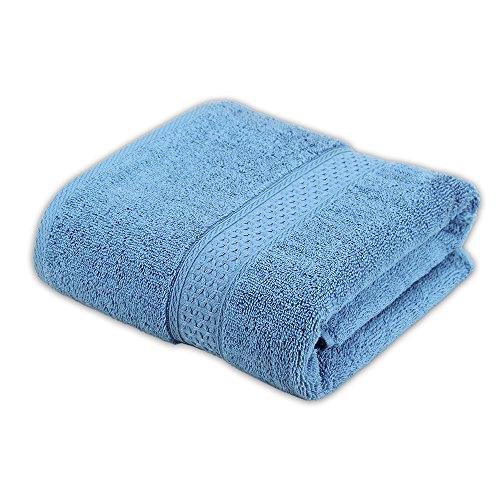 Cleanbear Bath Towel Cotton Pool Towel, Absorbency and Softness Bathroom Towel, 27.5x55, Blue