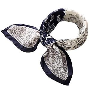 RIIQIICHY Pañuelo de Seda para Mujer Pañuelos para Cuello Colores y Diseños Variados 70 x 70 cm | DeHippies.com