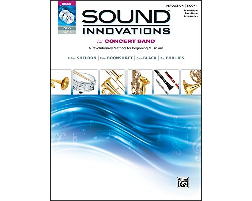 Alfred Sound Innovations for Concert Band Book 1 Perc Snare Bass Drum Bk CD/ DVD (Standard)