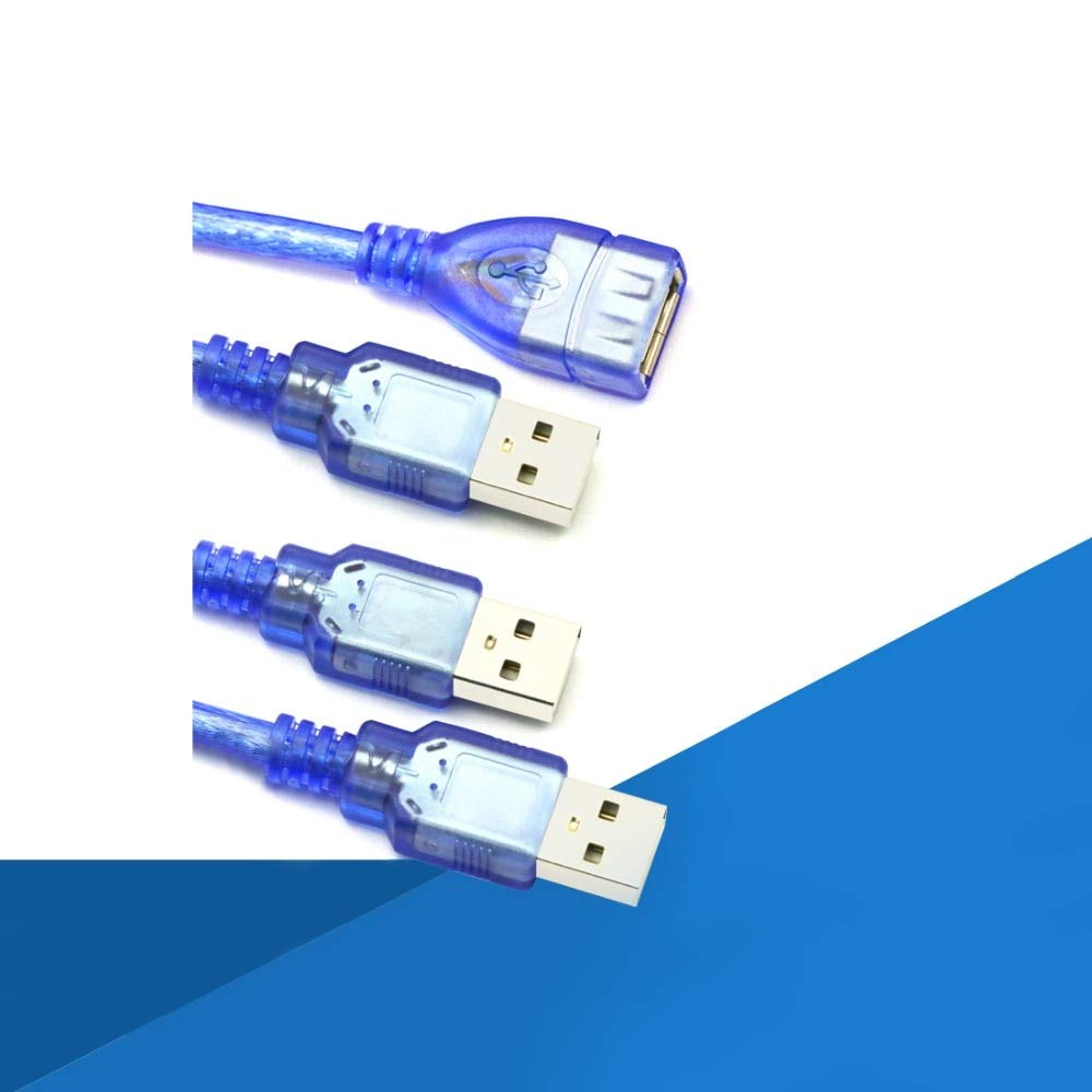 Color: 3m Gimax 1PC USB cord computer and laptop USB cables 0.5//1//1.5//3m USB 2.0 charging and data cords male to male