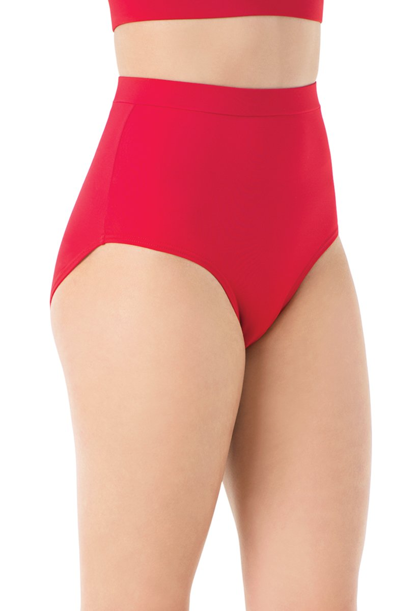 Balera Briefs Girls for Dance Womens Trunks Natural Rise Waist Bloomers Red Child Large by Balera