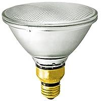 Satco S2248 60 Watt (75 Watt) 1090 Lumens PAR38 Halogen Flood 30 Degrees Clear Light Bulb, Dimmable