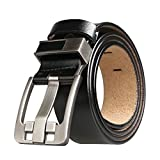 Men's Belt, Sunzel Cow Leather Belt Men With Anti-Scratch Buckle, perfect for Business Dress and Casual Jeans (Black, XL)