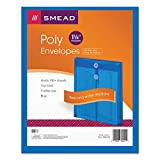 SMD89542 - Smead 89542 Blue Poly Envelopes with String-Tie Closure