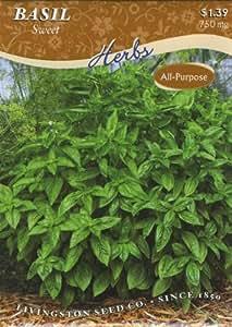 LIVINGSTON SEED Basil Sweet Herbs 750 mg