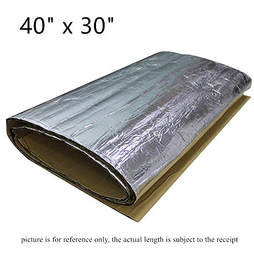 SHINEHOME 236mil Car Heat Shield Sound Deadener Heat Insulation Mat Noise Proof Insulation Mat Heat Protector Mat 40 inches x 30 inches 8.18sqft