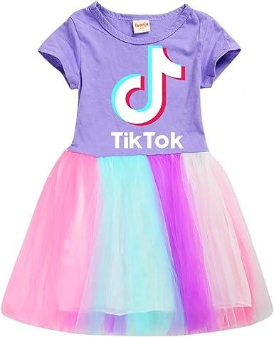 Niña TIK Tok vestido de algodón suave Vestidos causales niños Unisex ropa de verano ropa de abrigo: Amazon.es: Ropa y accesorios