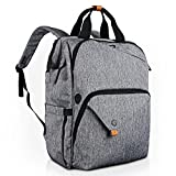 Hap Tim Laptop Backpack 15.6/14/13.3 Inch Laptop Bag Travel Backpack for Women/Men Waterproof School Computer Bag Large Capacity Bookbag for College/Travel/Business (7651US-G)
