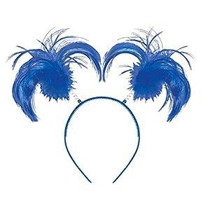 - 51TJ 2BsTtY3L - amscan Feathers & Ponytails Headband (1 Piece)
