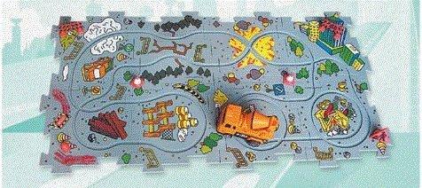 - Puzzle Track Vehicle Set --Construction -- Cement Mixer