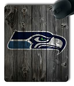 Seattle Seahawks on Wood Rectangle Mouse Pad by eeMuse