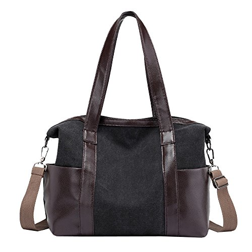 Female Shoulder Bags Vintage Hobos Casual Canvas Single Capacity Solid Women Large Black Theshy And Totes zYSpXW8wq