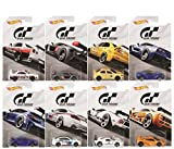 Hot Wheels 2018 Gran Turismo ''The Real Driving Simulator'' Bundle Set of 8 Die-Cast Cars, 1:64 Scale