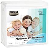 Utopia Bedding Zippered Mattress Encasement - Bed Bug Proof, Dust Mite Proof Mattress Cover - Waterproof Mattress Cover Protects from Insects Fluids (Twin)