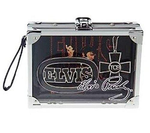 Elvis Presley Rock Box with Silvertone Necklace and Belt Buckle Limited Edition (Multicolored) ()