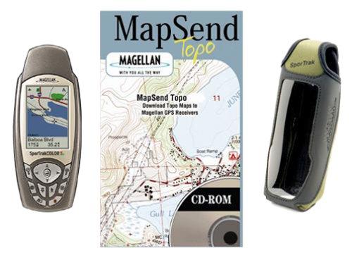 Magellan SporTrak 2.2-Inch Portable GPS Navigator (Bundle) (Magellan Sportrak Gps)