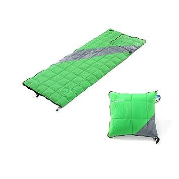 Qys Abajo Saco De Dormir Ultralight Tipo De Almohada Bolsa De Embalaje Envel Adulto Saco De Dormir Impermeable,Green: Amazon.es: Deportes y aire libre