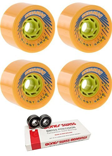 連鎖アナニバーピザ78 mm seismicスケートシステムBlast Wave Longboard Skateboard Wheels with Bones Bearings – 8 mm Bones Swiss Skateboard Bearings – 2アイテムのバンドル