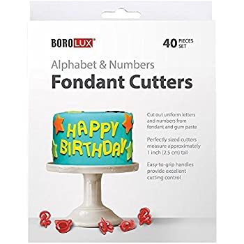 how to make letters and numbers out of fondant