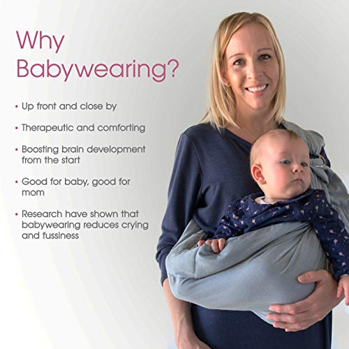 2ef044c496e Baby Wrap Carrier Ring Sling  Extra Comfortable Slings and - Import It All