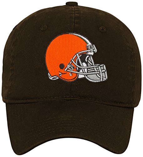 Outerstuff NFL Boys 4-7 Team Slouch Adjustable Hat-Brown Suede-1 Size, Cleveland Browns -