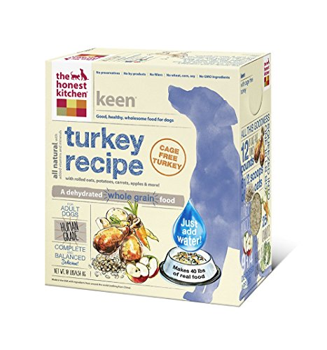 The Honest Kitchen Keen Organic Whole Grain Dog Food - Natural Human Grade Dehydrated Dog Food, Turkey, 10 lbs (Makes 40 lbs)cage free turkey