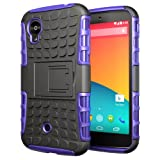 Hyperion LG Google Nexus 5 Explorer Hybrid Case / Cover (Compatible with Domestic and International Google Nexus 5 D-820, D-821 & LG-D820 Models)Hyperion Retail Packaging [2 Year Warranty] (PURPLE/BLACK)
