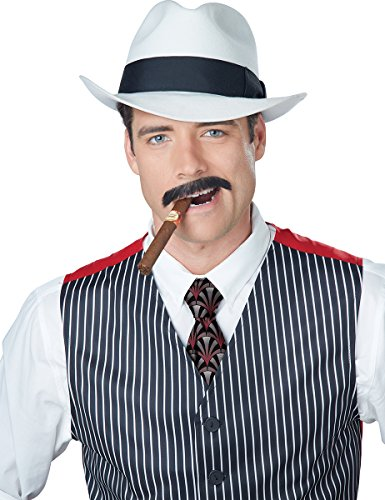 California Costumes Men's Gangster Stache, Brown, One Size