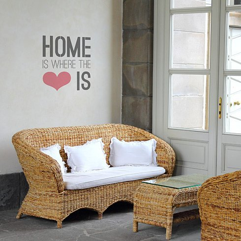 Home Is Where The Heart Is - Large - Quote Stencil Cutting Edge Stencils WD007LG