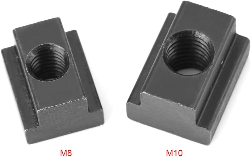 aus schwarzem Oxid durch Nutmuttern M10 5 St/ück T-Nut Mutter M8 // M10 Gewinde T-Nutensteine f/ür Maschinen Werkzeugtisch