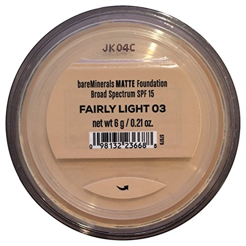 Bare Escentuals Bare Minerals Foundation Matte SPF 15 Fairly Light, Large, 1 Count