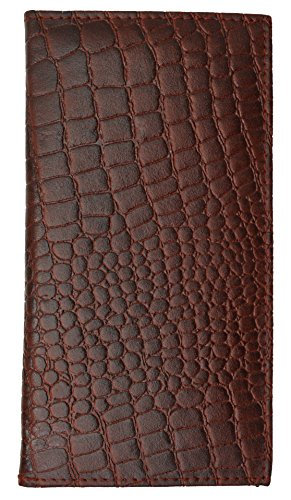 New High End Marshal Leather Checkbook Cover Case #156-CR